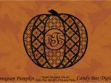 Monogram Pumpkin Templates Monogram Pumpkin Silhouette Patterns On Creative Market
