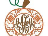 Monogram Pumpkin Templates Pumpkin Aztec Pattern Svg Cuttable Designs