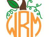 Monogram Pumpkin Templates Pumpkin Monogram Frame Svg Cuttable