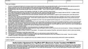 Monthly Parking Contract Template Sample Monthly Parking Agreement Free Download