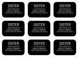 Mormon Missionary Name Tag Template All Things Bright and Beautiful Elder Sister Missionary