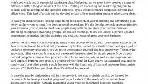 Mortgage Loan Officer Business Plan Template Loan Officer Marketing Plan
