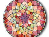 Mosaic Templates Online Stained Glass Mosaic Dahlia Flower Mandala Design by Kasia