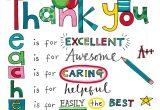 Most Beautiful Card for Teacher Rachel Ellen Designs Teacher Thank You Card with Images
