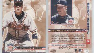 Most Expensive Modern Baseball Card Details About 2001 Pacific Nl Decade S Best Chipper Jones 17 Hof