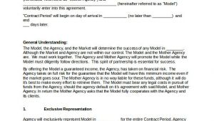 Mother Agency Contract Template Booking Agent Contract Template 9 Download Free