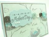 Mother S Day Greeting Card Handmade Mother S Day Card Blue French Mother S Day Card Handmade