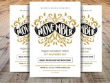 Movember Email Template Movember Flyer Template Flyer Templates Creative Market