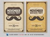 Movember Email Template Movember Mustache Flyer Flyer Templates Creative Market
