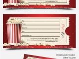 Movie Gift Certificate Template Movie Gift Certificate Psd Printable by Elegantflyer
