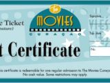 Movie Gift Certificate Template Movie Gift Certificate Template Free Images Certificate