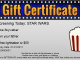 Movie Gift Certificate Template Ubuntu Corner