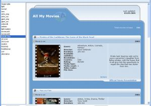 Movies HTML Template All My Movies Selection Of the HTML Template Screenshot