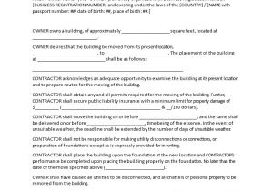 Moving Contract Template Moving House Contract Templates at Allbusinesstemplates Com