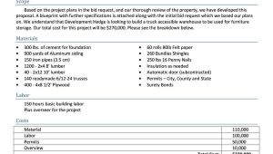 Moving Proposal Template 31 Construction Proposal Template Construction Bid forms
