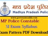Mp Board Admit Card Name Wise Mp Police Constable Syllabus 2020 Mppeb Police Exam Pattern