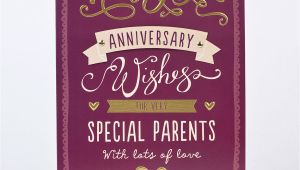 Mum and Dad Anniversary Card Celebrations Occasions Cards Stationery Mum Dad