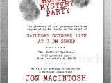Murder Mystery Invitation Template Clue Birthday Invitation Murder Mystery Party Customizable