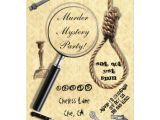 Murder Mystery Invitation Template Murder Mystery Party Invitations Zazzle Com