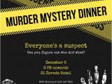 Murder Mystery Invitation Template Yellow Murder Mystery Invitation Templates by Canva