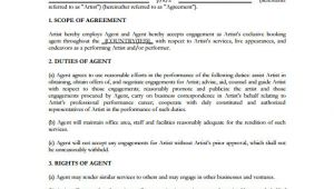 Music Booking Agent Contract Template Booking Agent Contract Template 9 Download Free