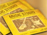 Music Studio Flyer Template Music Studio Flyer and Cd Template Graphicriver