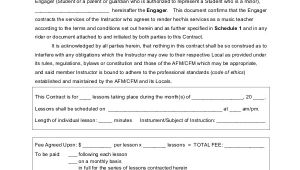 Music Teacher Contract Template 9 Teacher Agreement Contract Samples Word Pdf