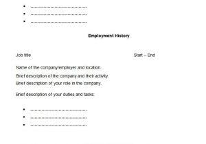 My Resume is Blank 7 8 Resume Blank format Pdf Resumename Com