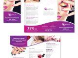 Nail Brochure Templates Free Nail Beauty Salon Tri Fold Brochure Template Dlayouts