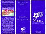 Nail Brochure Templates Free Nail Hair Salon Marketing Materials Laura Nagel