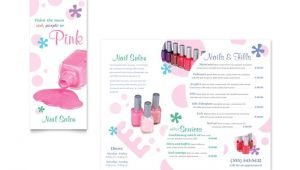 Nail Brochure Templates Free Nail Salon Brochure Template Design