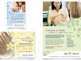 Nail Brochure Templates Free Nail Salon Flyer Ad Template Word Publisher