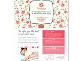 Nail Brochure Templates Free Nail Spa Center Flyer Template