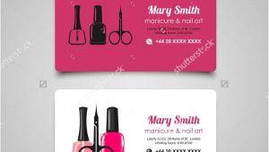 Nail Business Cards Templates Nail Salon Business Card 14 Free Psd Vector Ai Eps