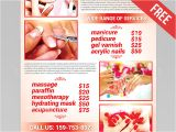 Nail Salon Flyer Templates Free Nail Salon Flyer Psd Template Facebook Cover by