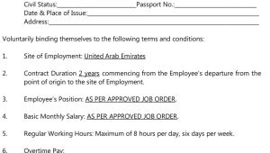 Nail Technician Contract Template for Employers Srl International Manpower Services