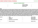 Nail Technician Contract Template Nail Technician Employment Contracts