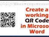 Name Card Qr Code Generator Create A Working Qr Code In Microsoft Word