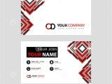 Name Card Vector Design Free Download Letter Od Logo In Black which is Included In A Name Card or
