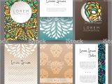 Name Card Vector Design Free Download Set Of Vector Design Templates Business Card with Floral