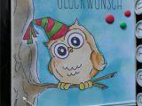 Name On Happy Birthday Card Happy Birthday Card Geburtstagskarte Art Impressions Owl