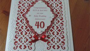 Nan and Grandad 60th Wedding Anniversary Card Ruby Wedding Using Sue Wilson Dies Wedding Anniversary