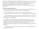 Nanny Contract Template Australia 10 Nanny Contract Sample Templates Word Docs