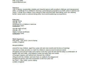 Nanny Resume Sample 10 Nanny Resume Templates Pdf Doc Free Premium