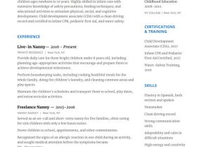 Nanny Resume Sample How to Write A Nanny Resume to Wow Any Family with Resume