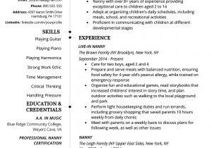 Nanny Resume Sample Nanny Resume Example Writing Tips Resume Genius