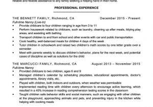 Nanny Resume Sample Nanny Resume Sample Writing Tips Resume Companion