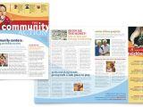 Neighborhood Newsletter Template Community Non Profit Newsletter Template Design