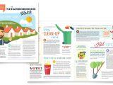 Neighborhood Newsletter Template Homeowners association Newsletter Template Design