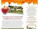 Neighborhood Newsletter Template Our Colonial Hills Neighborhood association Fall